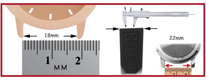 Correa de silicona para reloj herramientas relojero vitrinas movimiento Birkenstock Beco Swiss Kubik Bergeon S1 Elma MTE
